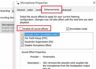 راه اندازی میکروفون ویندوز 10
