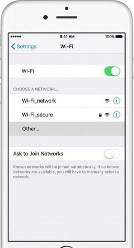 درخواست اتصال به شبکهای دیگر برایتقویت وای فای آیفون