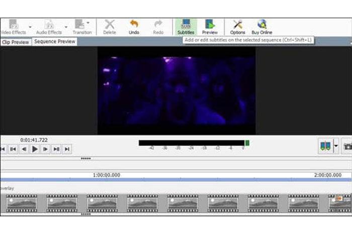 اکنون در صفحه اصلی برنامه ساخت زیرنویس روی subtitle کلیک کنید. پنجرههای درست کردن زیرنویس فیلم ظاهر خواهند شد.