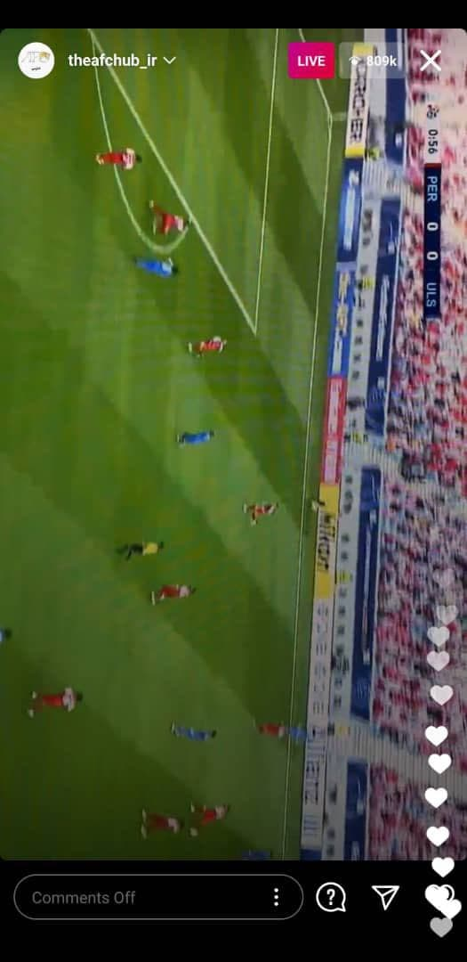 لایو گزارش عادل فردوسی پور در صفحه AFC فارسی