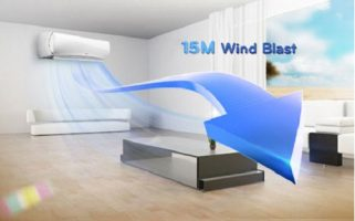 پرتاب باد کولر گازی چقدر باشد؟