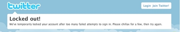 لاک شدن اکانت توئیتر به دلیل درخواست ورود به حساب بیش از حد