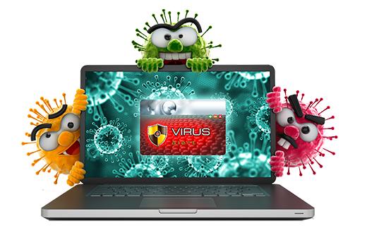9 . آلودگی ویروسی یا هجوم جاسوس افزارها
