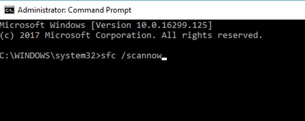 اجرای System File Checker برای رفع مشکل ارور Your PC ran into a problem در ویندوز 10