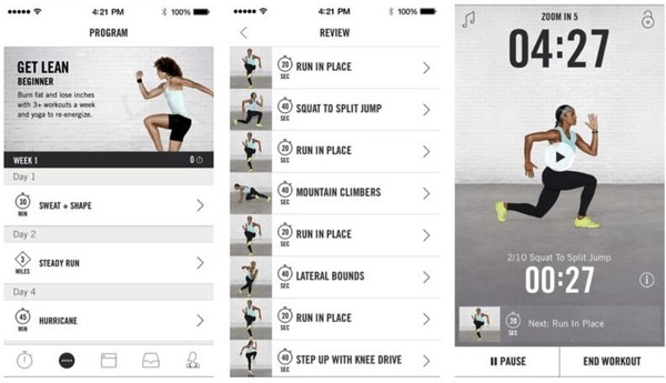 اپلیکیشن Nike+ Training Club