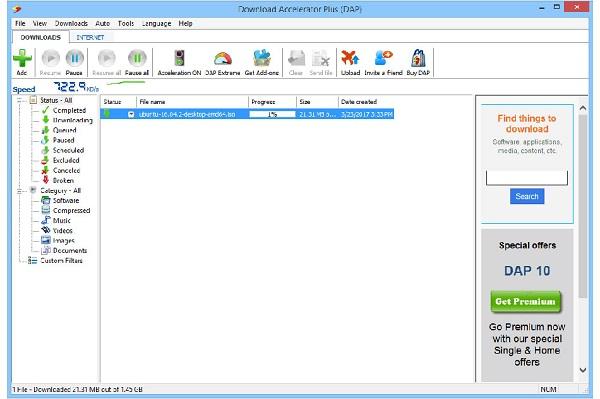 نرم افزار مدیریت دانلود (Download Accelerator Plus (DAP