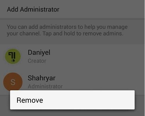 حذف مدیر از کانال در تلگرام (Delete Admin FromTelegram Channel)