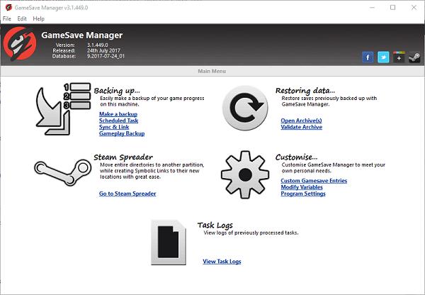 بررسی GameSave Manager