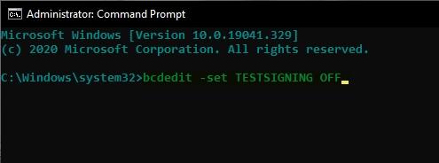 حذف Test Mode ویندوز ۱۰