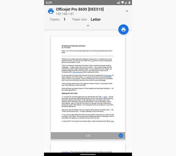 آموزش چاپ یا پرینت از روی گوشی اندرویدی: روش پیشرفته