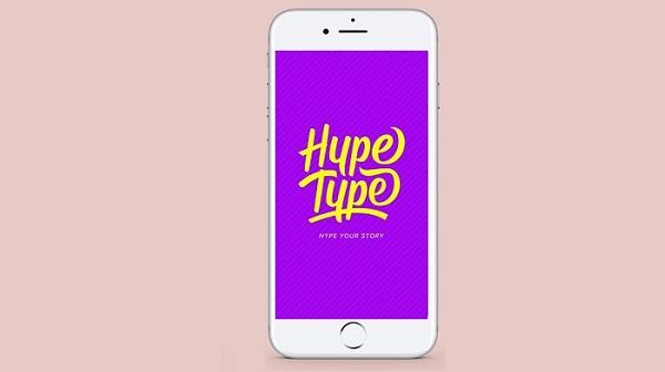 4. برنامه استوری ساز جالب Hype Type