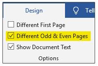 هدر و فوتر صفحات زوج و فرد (Different Odd & Even Page)