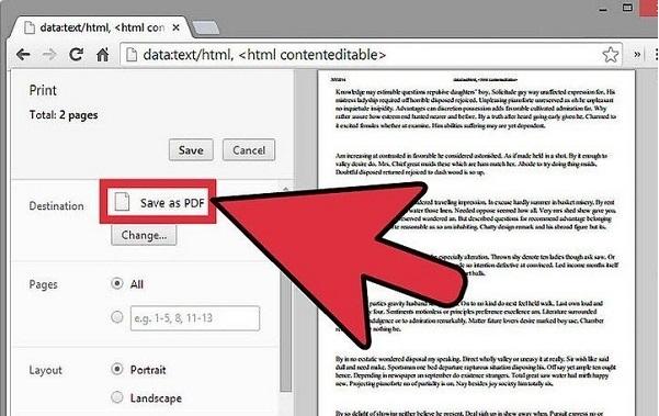 آموزش ساخت فایل پی دی اف (PDF) در ویندوز ۱۰ با استفاده از مرورگر گوگل کروم