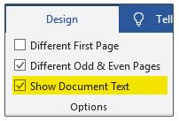 نمایش متن سند (Show Document Text)