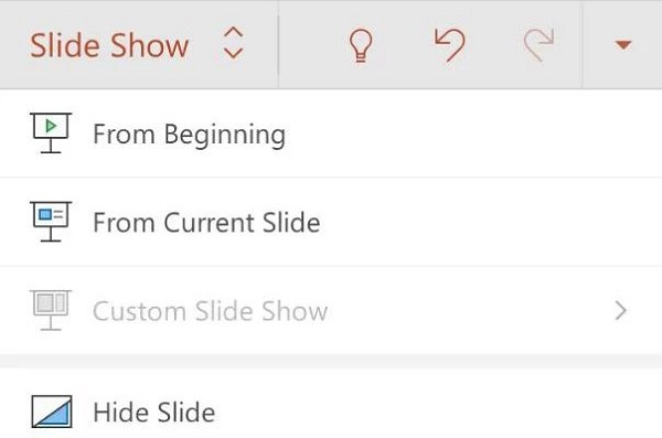 نمایش اسلاید با بخش Slide Show در پاورپوینت اندروید