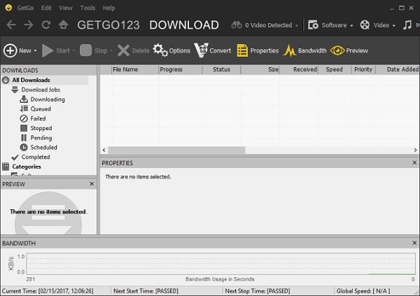نرم افزار مدیریت دانلود GetGo Download Manager