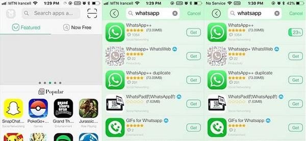 قدم سوم: روش نصب واتساپ دوم در tutuapp