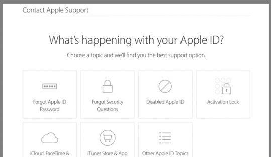 حل مشکل Apple ID Disabled با تماس گرفتن با تیم پشتیبانی اپل