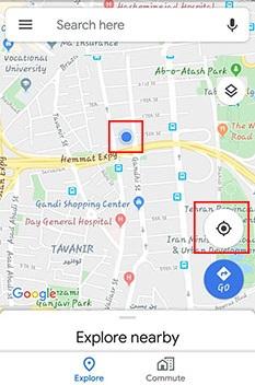 نحوه ارسال لوکیشن در گوگل مپ