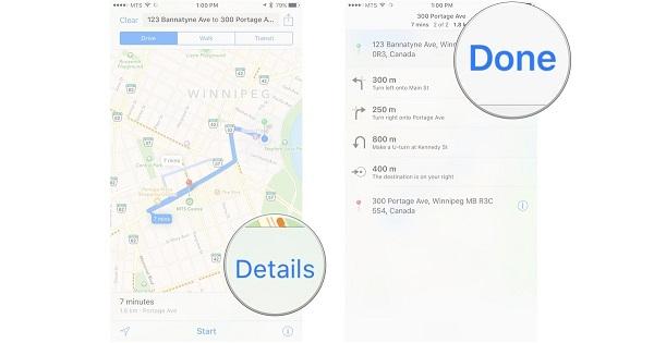 چگونه راهنمای متنی را در Maps مشاهده کنیم؟