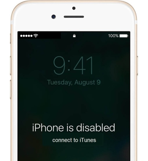 پیغام های خطای قفل شدن آیفون iPhone is Disabled Connect to iTunes