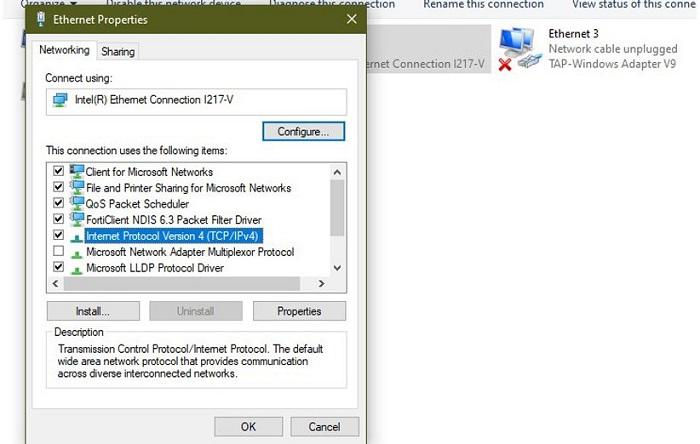 تغییر DNS کامپیوتر به DNS گوگل