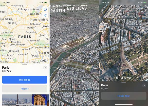 پرواز در اپلیکیشن Apple Maps