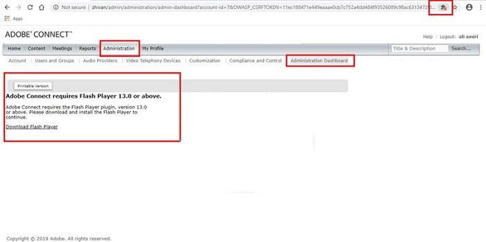 حل مشکلات آدوبی کانکت : اجرای فلش پلیر – Flash Player