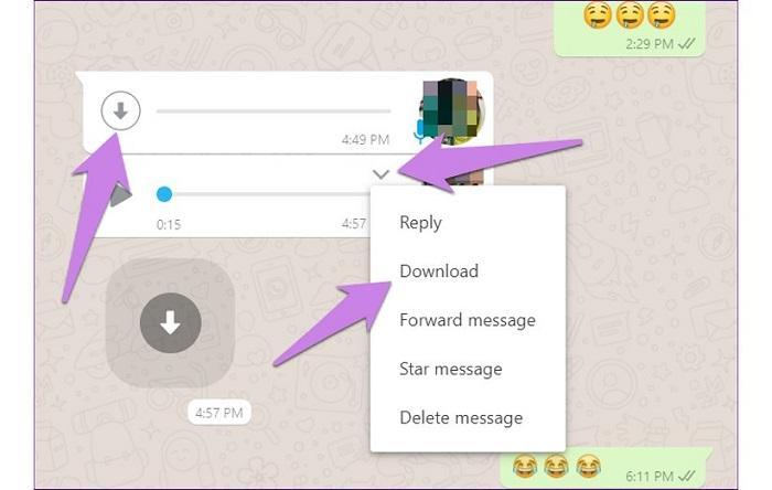 نحوه دانلود فایل در واتساپ