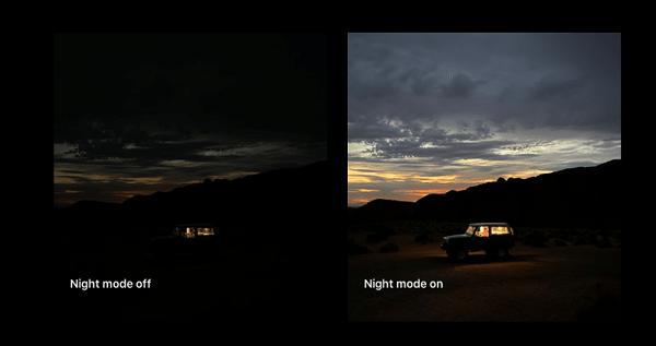 استفاده از حالت شب برای عکاسی و فیلم برداری