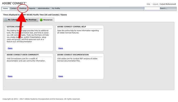 ساحت کلاس مجازی در ادوبی کانکت