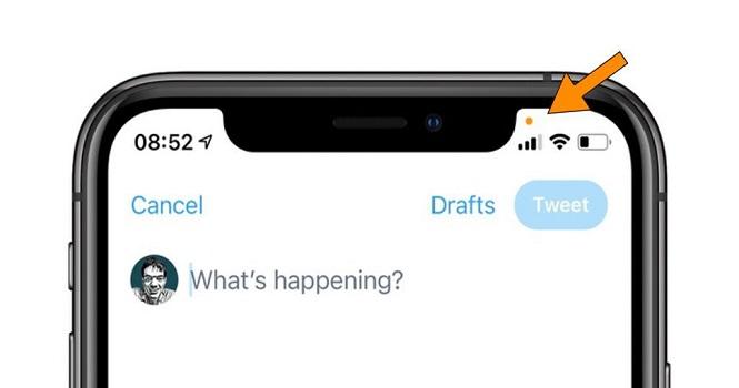 نقاط نارنجی و سبز در iOS 14 به چه معناست؟