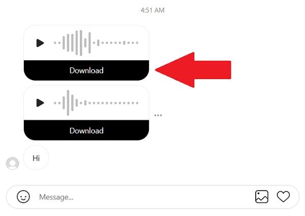 ذخیره وویس دایرکت اینستاگرام در نسخه وب