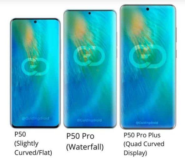 سه مدل از هوآوی P50 با ابعاد متفاوت نمایشگر رونمایی خواهد شد