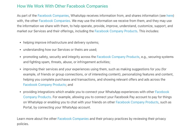 امنیت واتساپ - برنامه یکپارچه سازی محصولات کمپانی فیسبوک