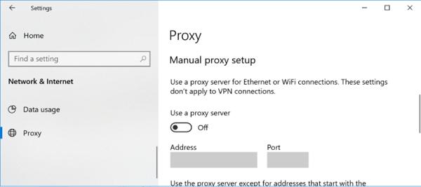 غیرفعال کردن پروکسی برای رفع مشکل دانلود از استور ویندوز 10
