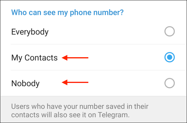 نحوه مخفی کردن شماره در تلگرام