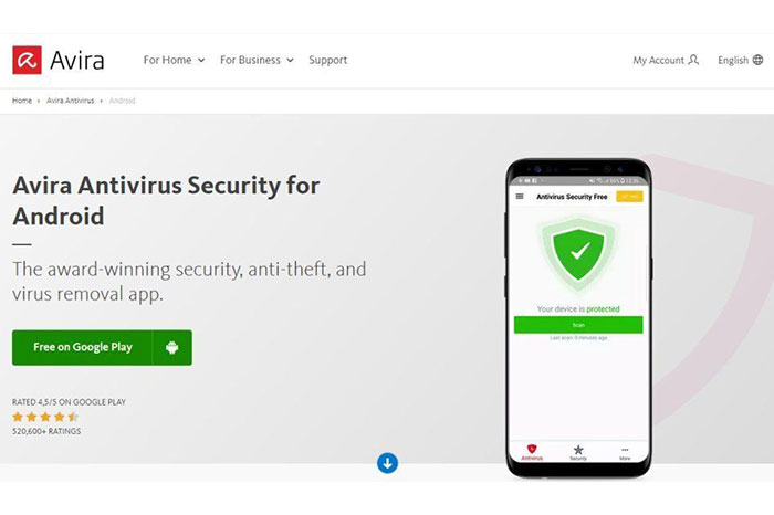 Avira Antivirus Security بهترین آنتی ویروس اندروید 2021