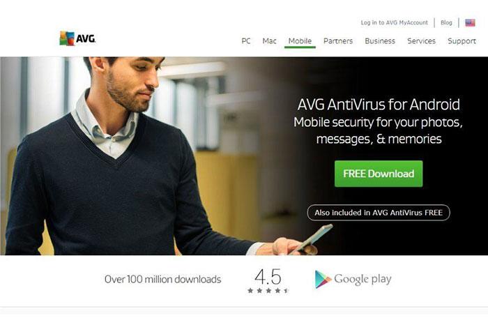 AVG AntiVirus Free بهترین آنتی ویروس اندروید 2021