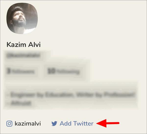 نحوه اتصال اکانت اینستاگرام و توییتر به کلاب هاوس