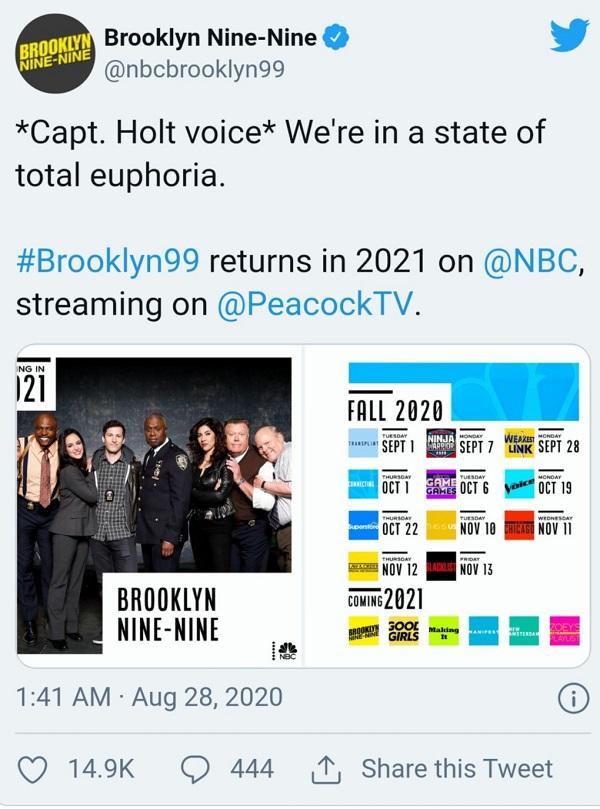 فصل هشتم بروکلین ناین ناین