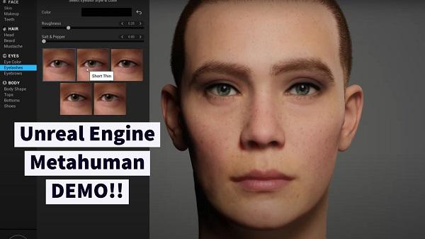 نرم افزار Metahuman Creator اپیک گیمز
