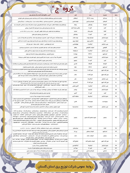 جدول زمان بندی قطعی برق امروز 5 خرداد 1400 همه استان ها