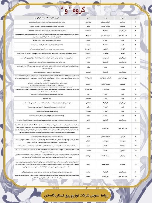 جدول زمان بندی قطعی برق امروز 6 خرداد 1400 همه استان ها