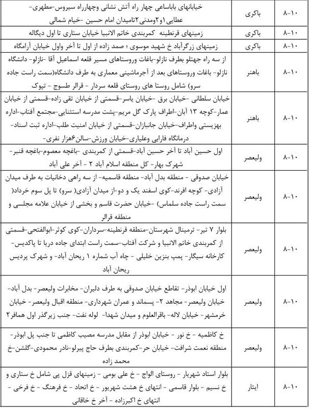 زمان بندی قطع برق ارومیه 1400 ؛ جدول قطعی برق آذربایجان غربی چگونه است؟