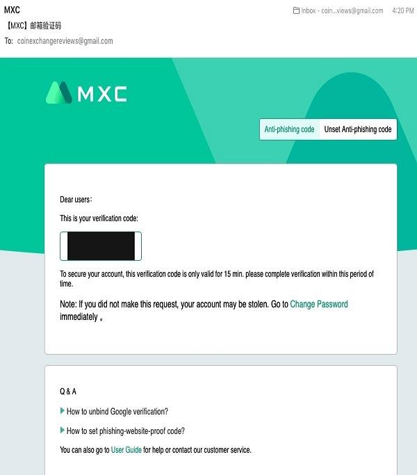 صرافی ام ایکس سی (MXC)