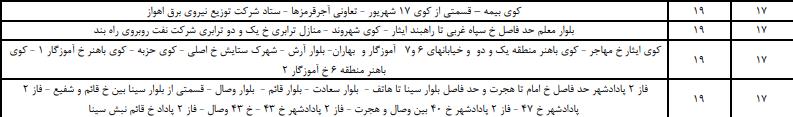 زمان بندی قطع برق اهواز 1400 ؛ جدول قطعی برق خوزستان چگونه است؟
