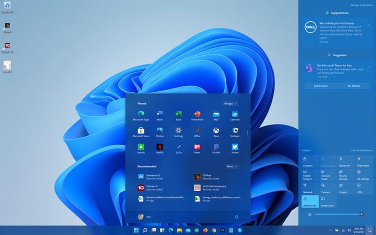 ظاهر ویندوز 11 و منوی استارت Windows 11