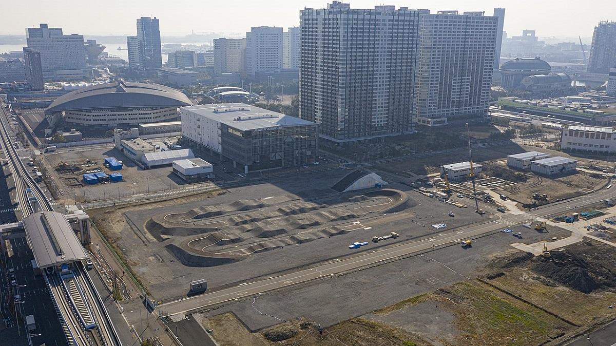 پیست BMX بخشی از پارک ورزشی آریاکه المپیک ۲۰۲۰ است