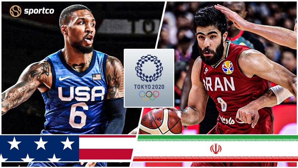 پخش زنده بسکتبال ایران آمریکا المپیک توکیو 2020 [6 مرداد]